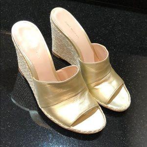 Stuart Weitzman Shoes - Stuart Weitzman Women's Gold Leather Espadrilles